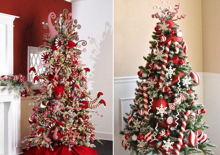 варианты украшения новогодней елки, примеры украшения ...