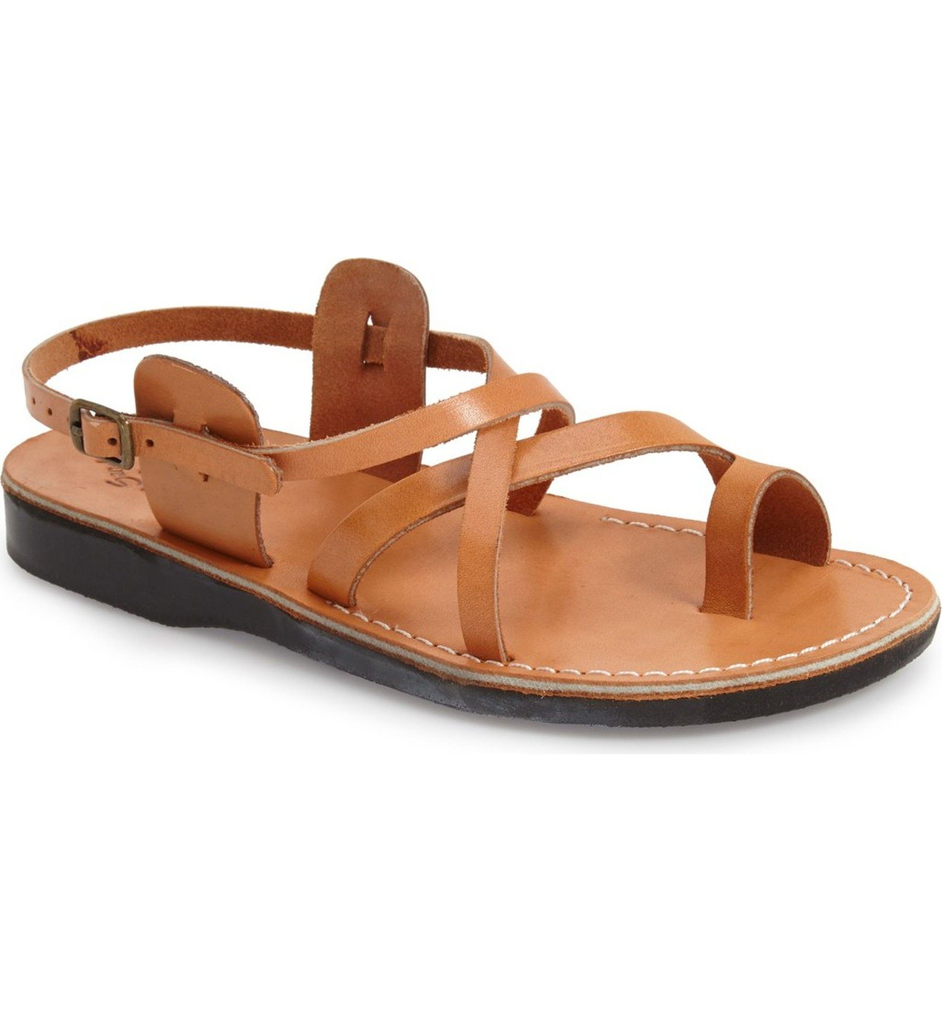 Buy Cheap The Good Shepherd' Leather Sandal Men Mens Tan Leather Jerusalem Sandals Mens Shoes