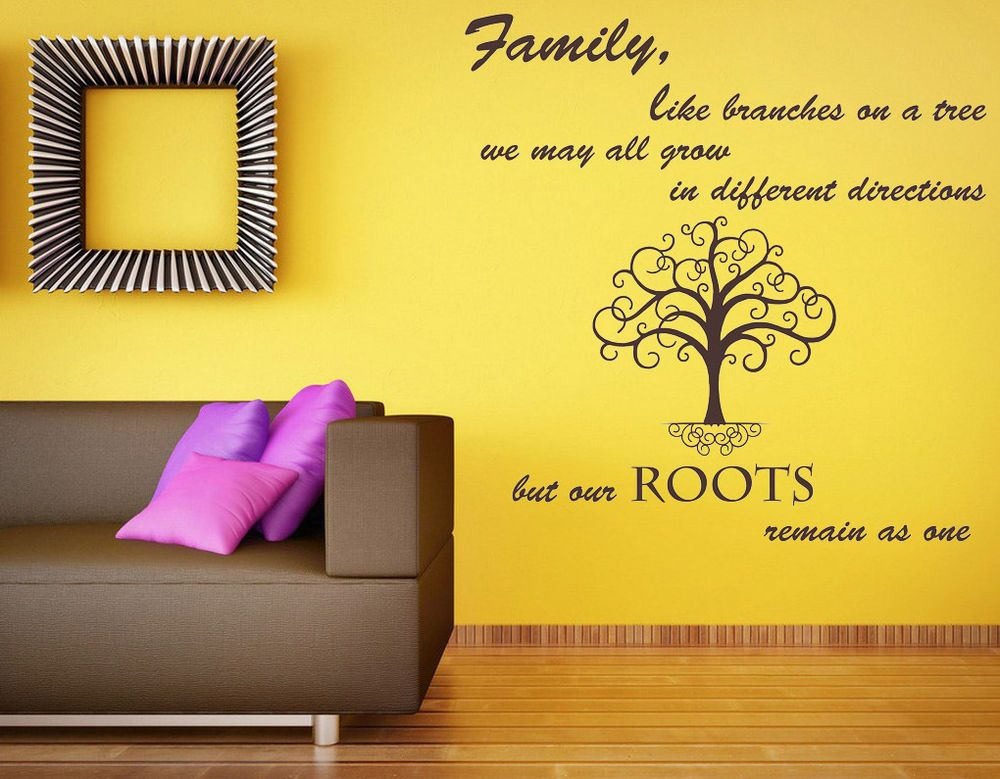 Family Like Branches Quote, Vinyl Wall Art Sticker Decal Mural ...
