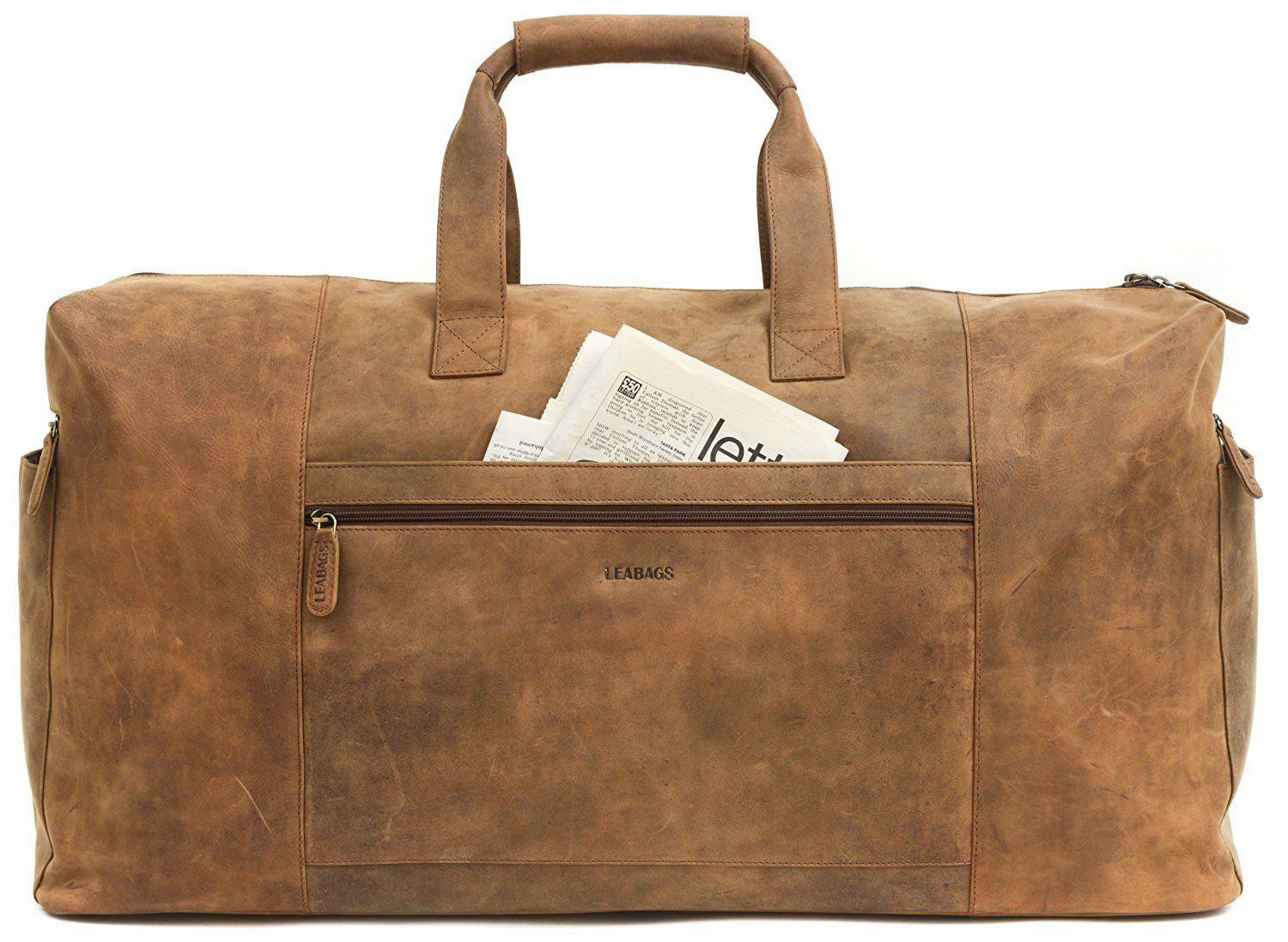 f21d212a9f LEABAGS Sydney genuine buffalo leather duffle bag in vintage style    Additional details at the pin image