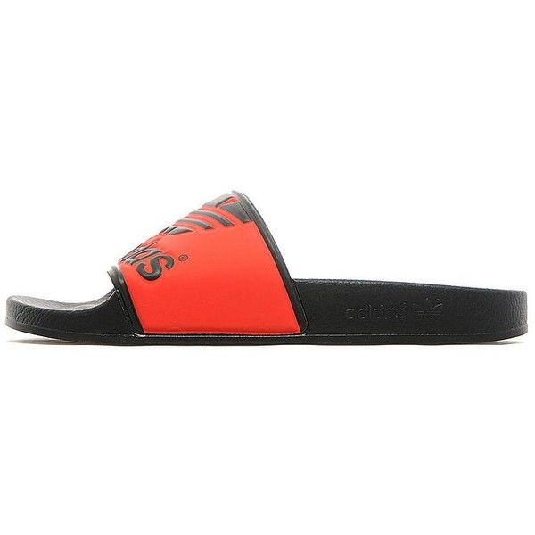 61b52df06 adidas Originals Adilette Trefoil Flip Flops (665 PHP) ❤ liked on Polyvore  featuring men s