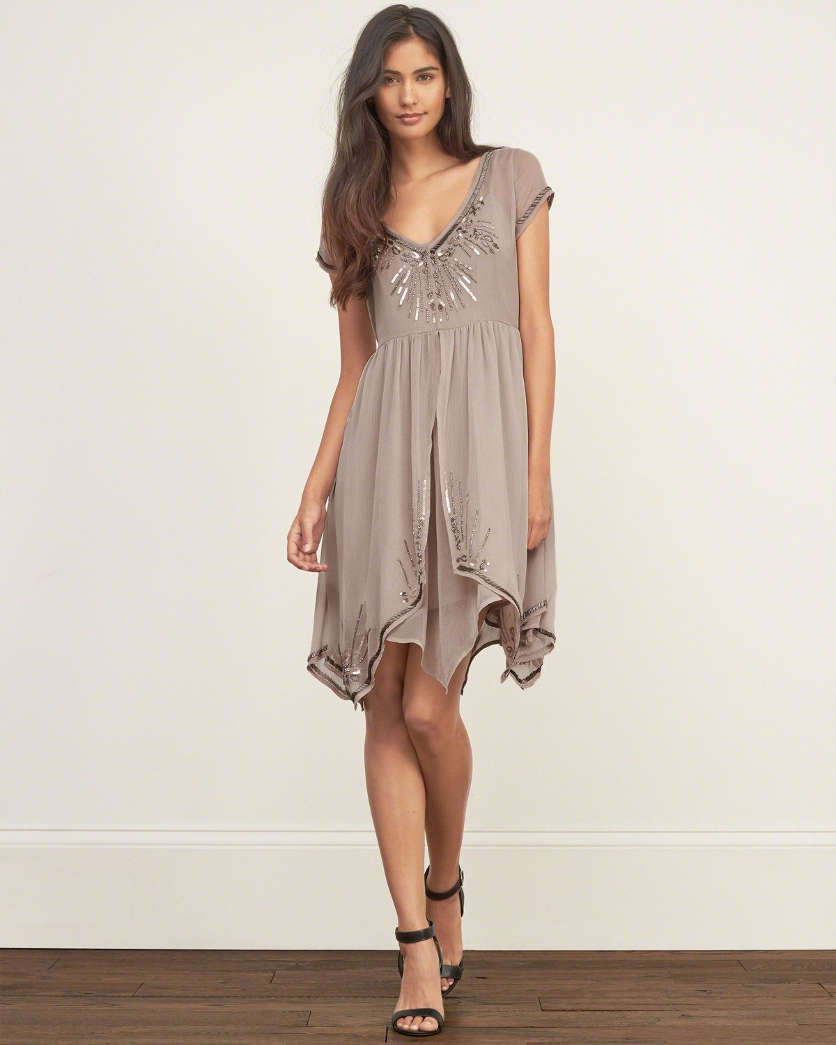 c7320ef7d1 Womens Open Back Embellished Dress | Shine bright in a beautiful dress with  hand-done embellishments, featuring asymmetrical hem, a relaxed waist and  cap ...
