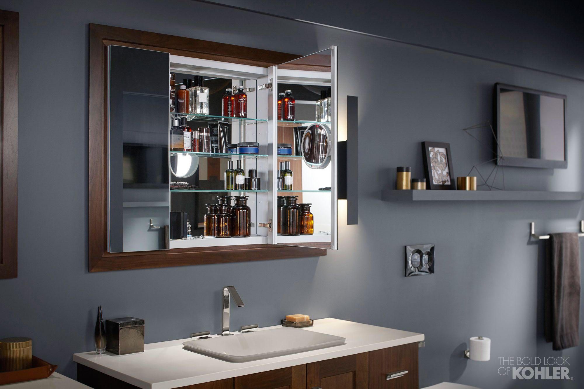 Minimalism Unveiled Bathroom Kohler Ideas Bathroom Design Medicine Cabinet Mirror Bathrooms Remodel [ 1333 x 2000 Pixel ]