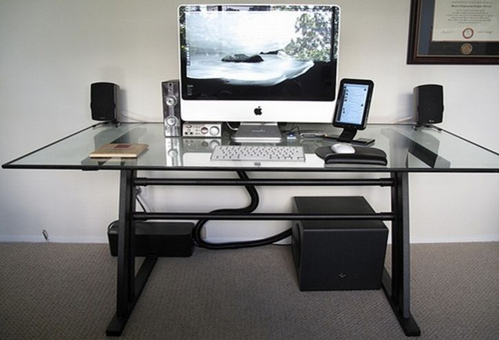 Extraordinary Modern Glass Computer Desk Www Bedhomes Com