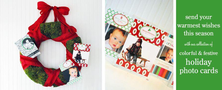 Modern, Preppy Holiday Photo Cards