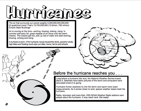Here's a booklet for kids from the National Weather Service ...