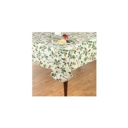 Everyday Fruits Flannel Back Vinyl Tablecloth, X Square