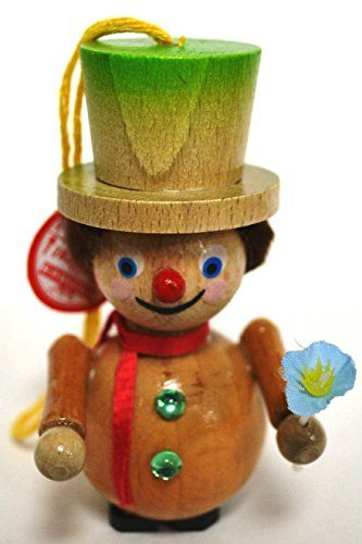 steinbach handmade wooden christmas ornament germany clown - German Handmade Wooden Christmas Decorations