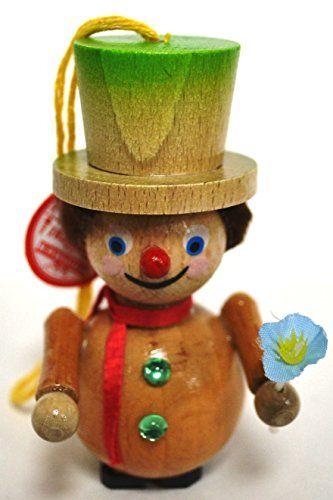 Steinbach Handmade Wooden Christmas Ornament Germany Clown
