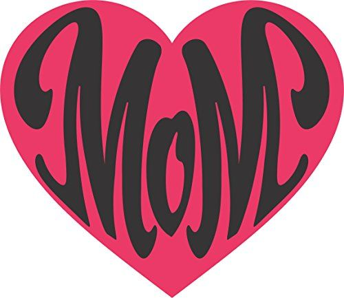 Mom In A Pink Heart Two Color Wall Vinyl Decal Sign 14 X 12 Inches Apollo S Products Http Www Amazon Com Dp B0 Vinyl Wall Decals Vinyl Decals Vinyl Wall