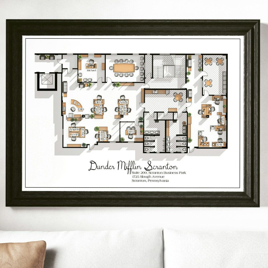 The office floor plan Parks And Recreation Welcome To The Dunder Mifflin Scranton The Office Of The Office Has Now Been Added To Shop Pinterest Welcome To The Dunder Mifflin Scranton The Office Of The Office Has