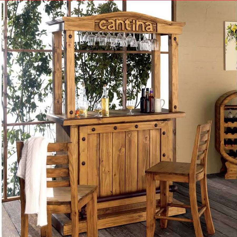 Barra de bar cantina r stica c bar 18 muebles saskia en for Diseno de barras de bar rusticas