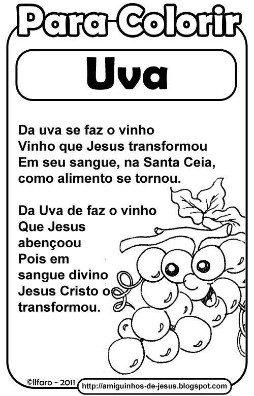 Simbolos Da Pascoa Uva Trigo E Sino Amiguinhos De Deus