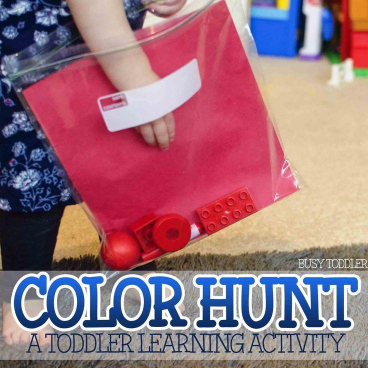 Learning Colors Activity: Color Hunt | Terapia, Color y Ideas para