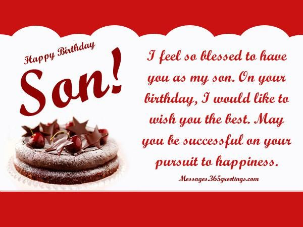 Birthday Wishes For Son Messages Greetings And