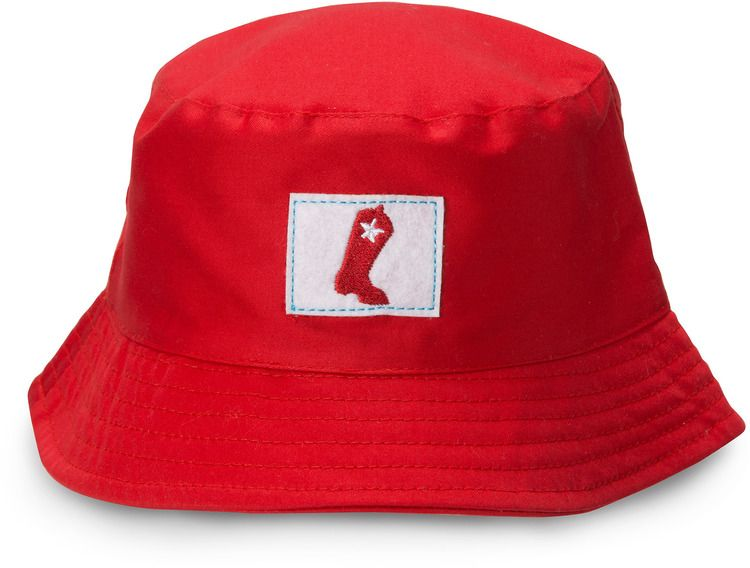 7a1f1b1fddb 6-12   12-24 Month Red Cowboy Boot Country Baby Boy Bucket Hat