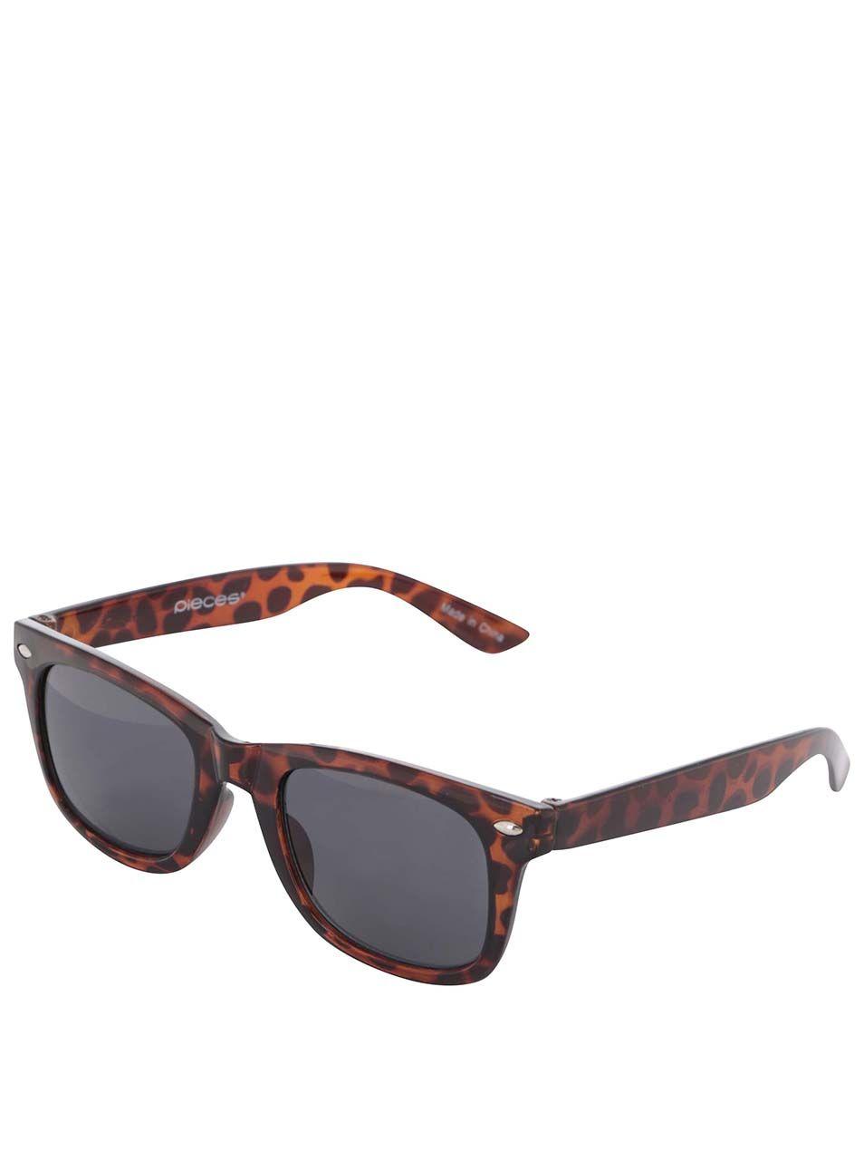 73fdee58b Hnedé korytnačinové slnečné okuliare Pieces Vibba | MUST HAVE ...