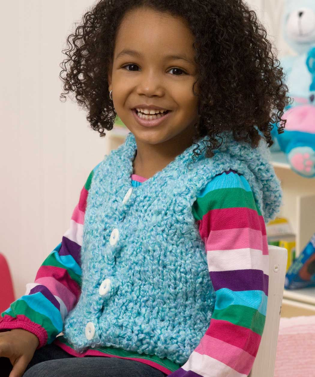 Hooded vest + lots of free patterns at Red Heart   Knit ...