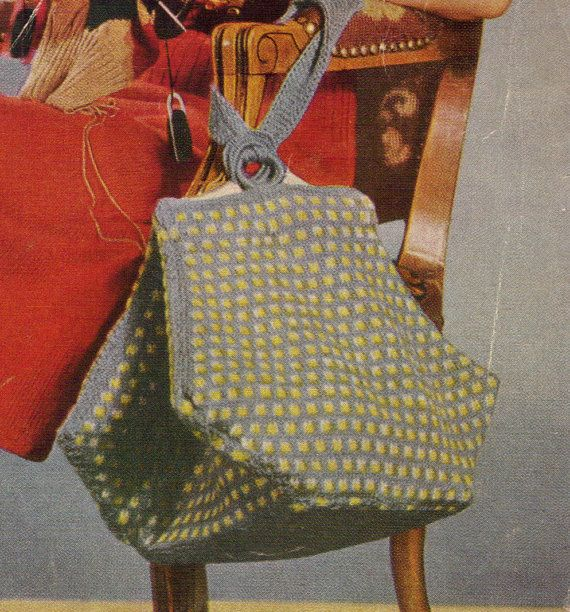 1940s Purse or Hand Bag   Knit PDF pattern 0620 by eStitches, $3.75