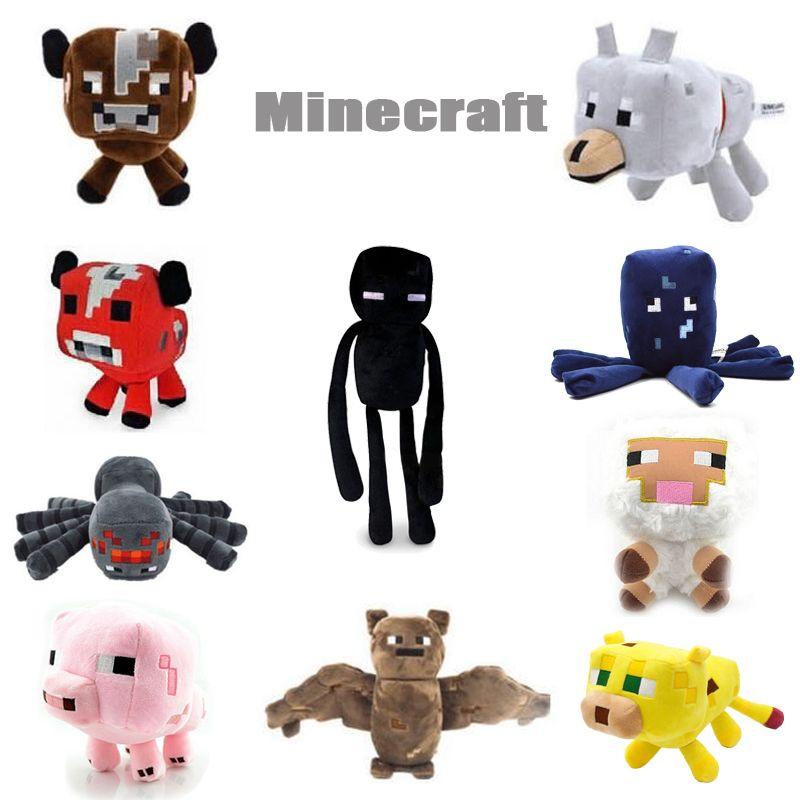 2016 neue Minecraft Plüschtiere Enderman Ocelot Schwein Schaf Bat ...