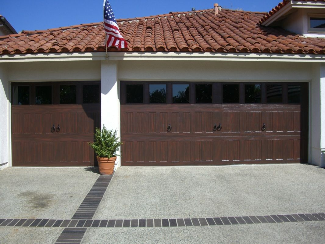 Faux My Garage Door Mahogany Faux Finish Matching The