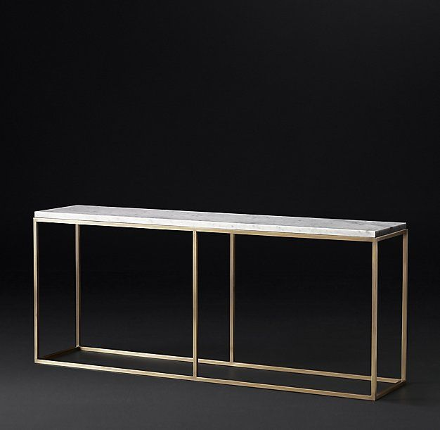 Nicholas Marble Console Table 72 Also Comes In 48 Marble Console Table Console Table Modern Console Tables