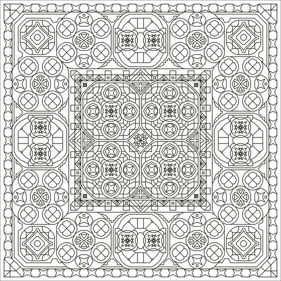 Gee Whiz Three Back Stitch Blackwork-Style Pattern, Instant Download ...