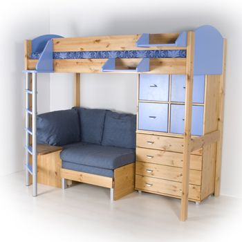Loft Bed With Dresser Seating Area How Awesome Would This B For A Kid