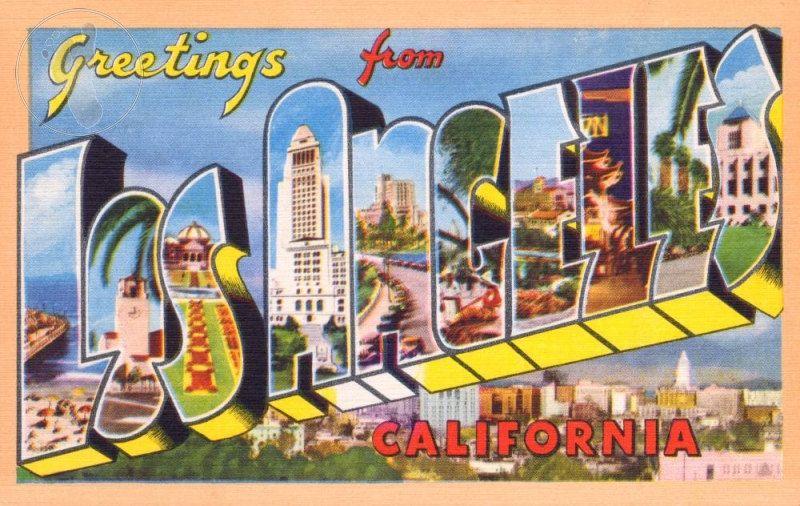 Greetings from los angeles california vintage large letter postcard greetings from los angeles california vintage large letter postcard giclee print 12x18 1495 via etsy m4hsunfo