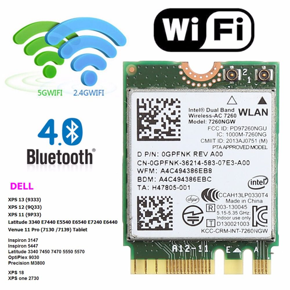 Dual Band 2 4+5GHZ 867M Bluetooth V4 0 NGFF M 2 WLAN Wifi