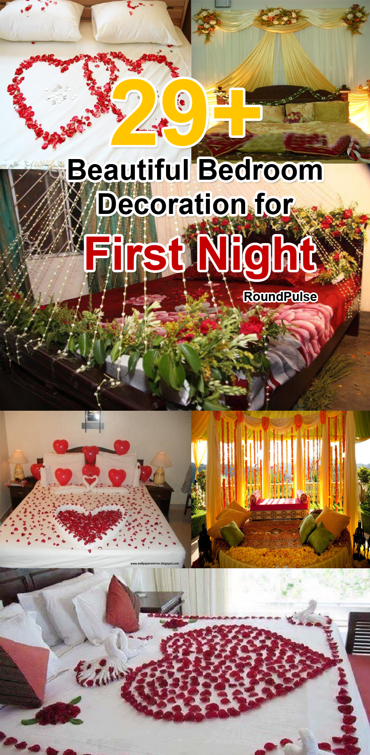 29 Beautiful Bedroom Decoration For First Night Beautiful Bedrooms Night Wedding Decor Romantic Bedroom Decor