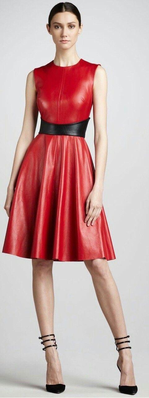 0e69542b9f7b09fe447a55b10ca76591 | Leather dresses, Red