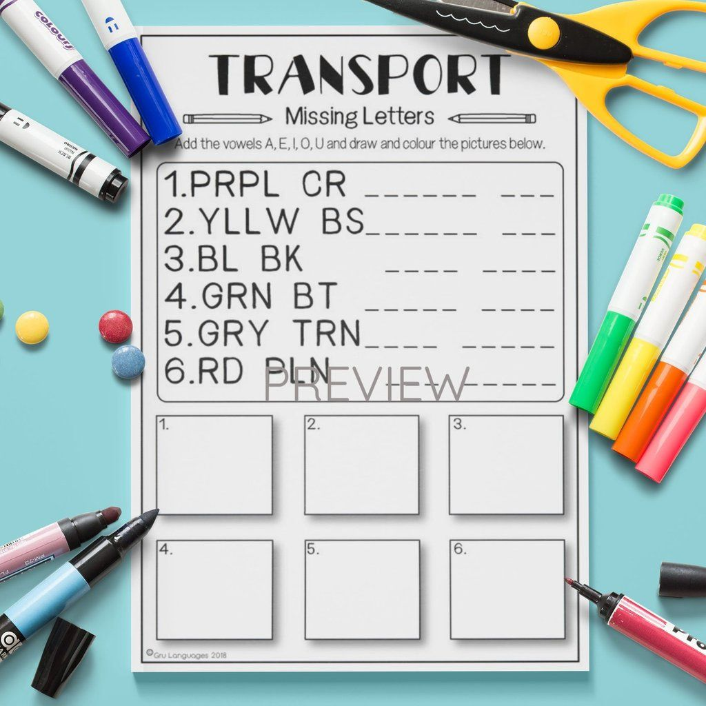 Transport Missing Letters