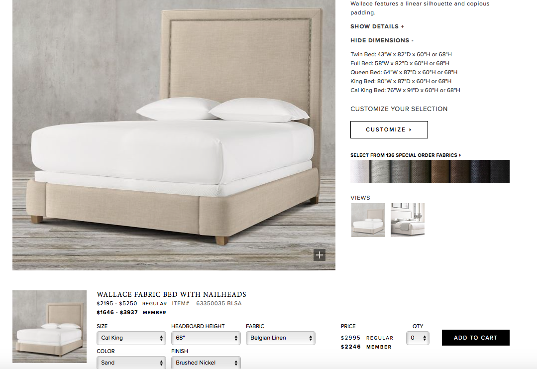 Best Rh Master Bed Color Price Size 2 246 Bedroom 400 x 300
