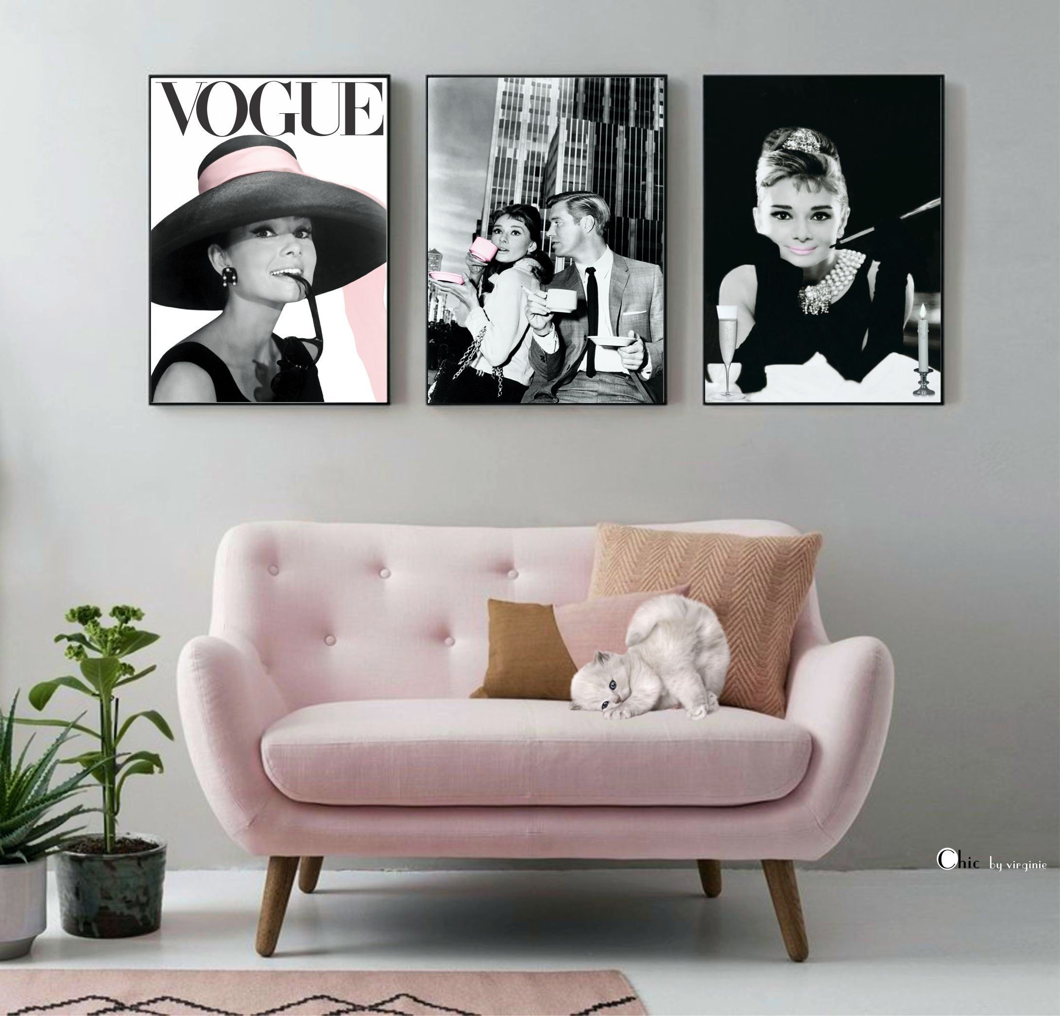 Audrey Hepburn Set Fashion Gallery Set Of 3 Prints Vogue Poster Fashion Wall Art Home Decor Gift Printabl In 2020 Fashion Wall Art Bedroom Decor Home Decor