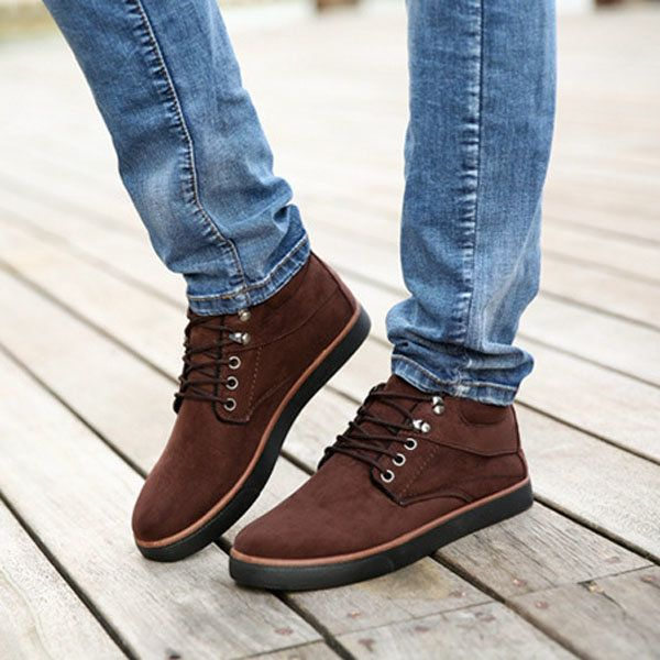 Men Warm Cotton Shoes Plus Velvet &Thickness Casual Shoes Soft Round Toe Flat Shoes - NewChic