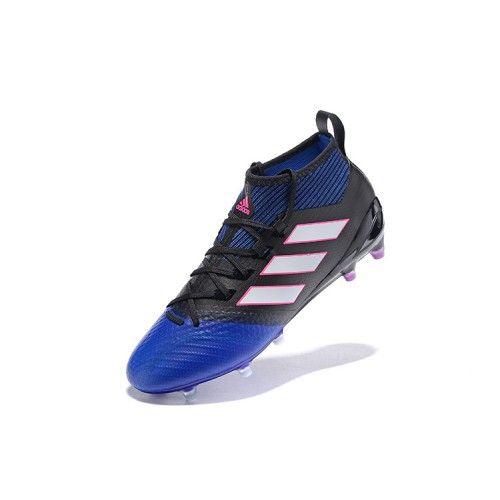 Billige Fodboldstøvler Tilbud - Billig Adidas ACE 17.1 FG Bla Sort