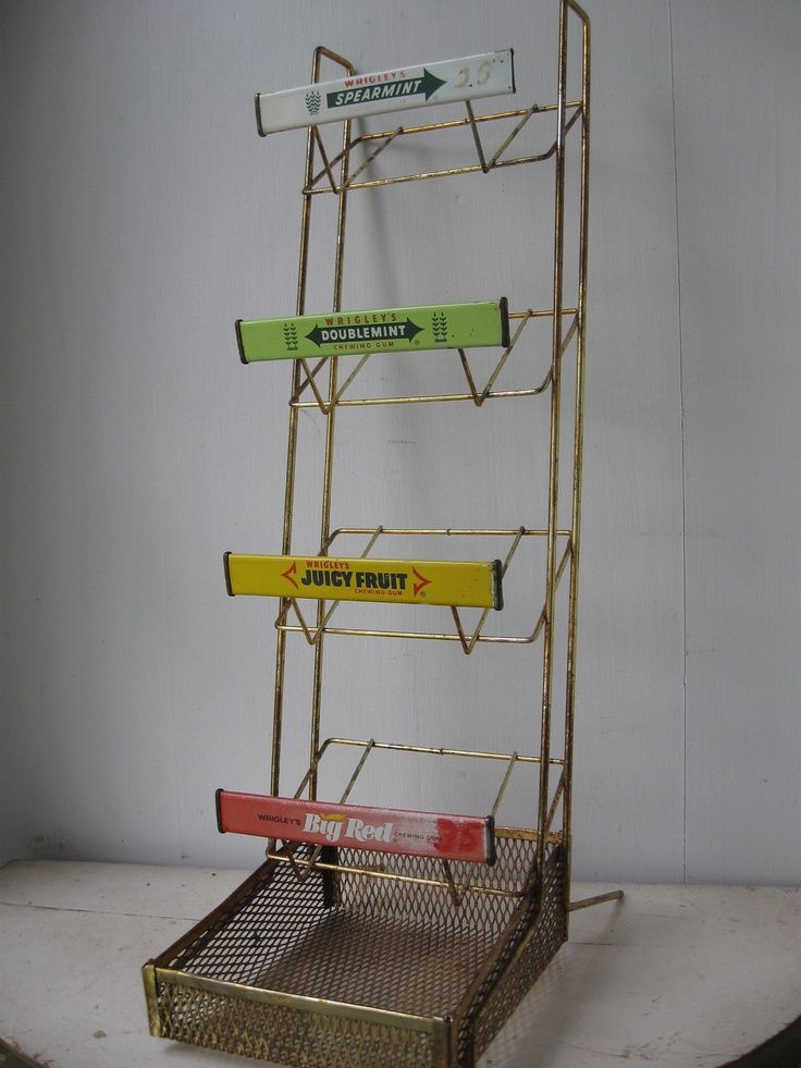Wrigley's Chewing Gum Retro Advertising Rack WrigleyMars Gum Extraordinary Wrigley's Chewing Gum Display Stand