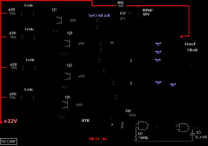 linea diagrama con en de electrico doble Secuenciadores LED PukXOiZT