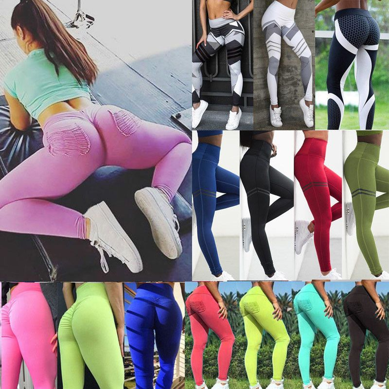ffeec38170 Women Yoga Push Up Fitness Leggings Gym Stretch Sports Jogging Pants  Trousers