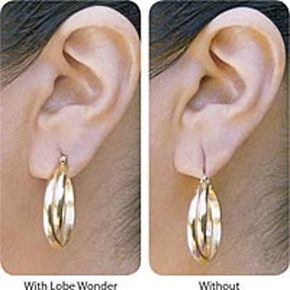 Lobe Wonder Provides Relief And Added Support To Damaged Stretched Earlobes By Taking Weight