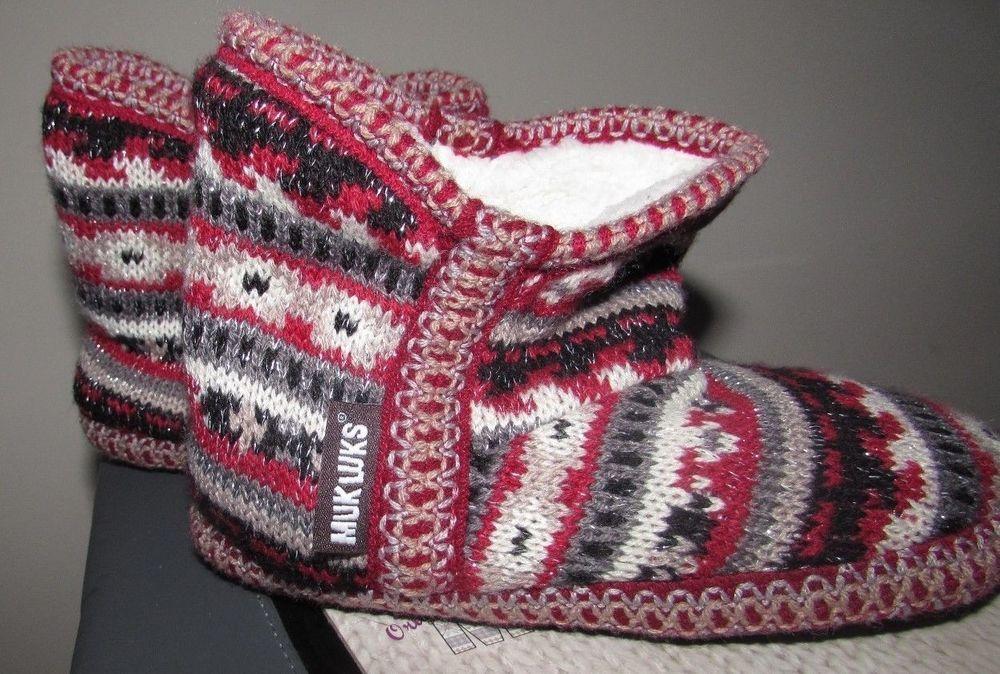 MUKLUK size 11-12 slippers shoes TODDLER BOY WARM NEW Nordstrom Christmas Gift #MUKLUK #Slippers