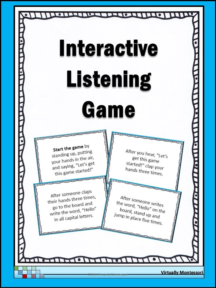 Interactive Listening Game Icebreaker And Community