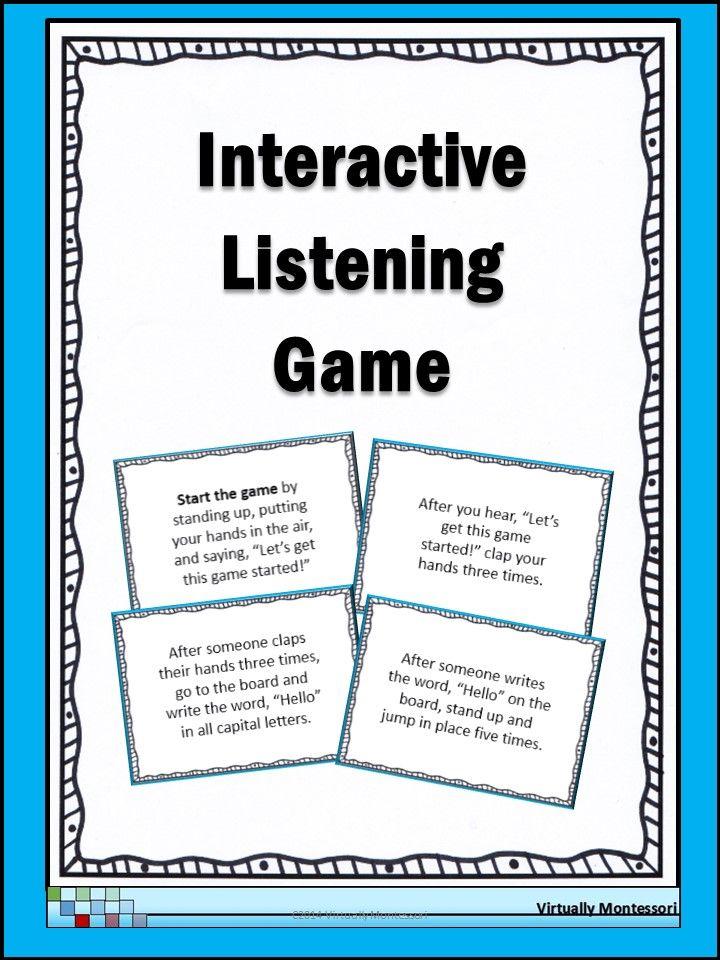 active listening games for children