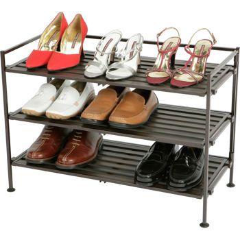 Seville Classics 3 Tier Multi Purpose Storage And Shoe Rack Shoe Storage Rack Stackable Shoe Rack Shoe Rack Organization