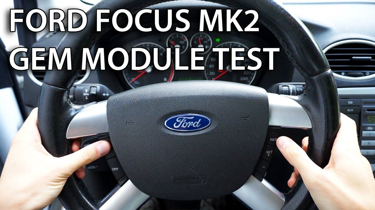 How to test gem module in ford focus mk1 car diagnostics automotive repair maintenance pinterest ford focus mk1 and ford