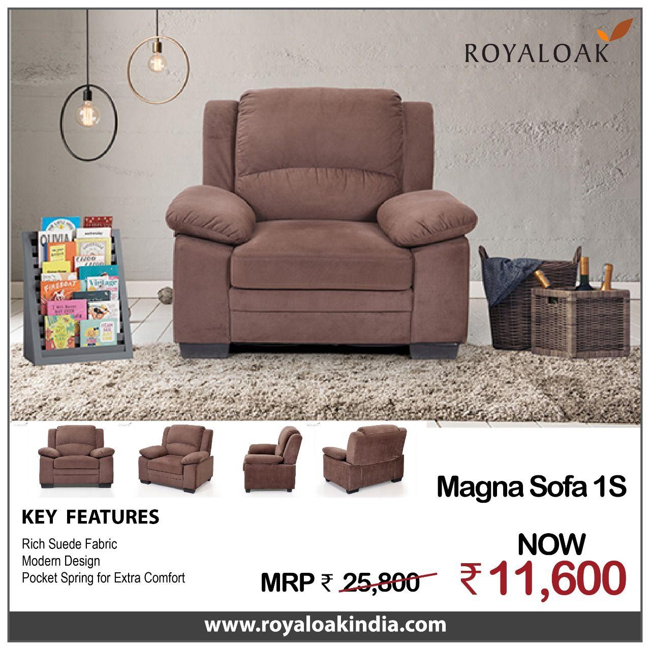 Pin By Royaloak Furniture On Royaloak Single Seater Sofas Buy Sofa Online Buy Sofa Single Seater Sofa