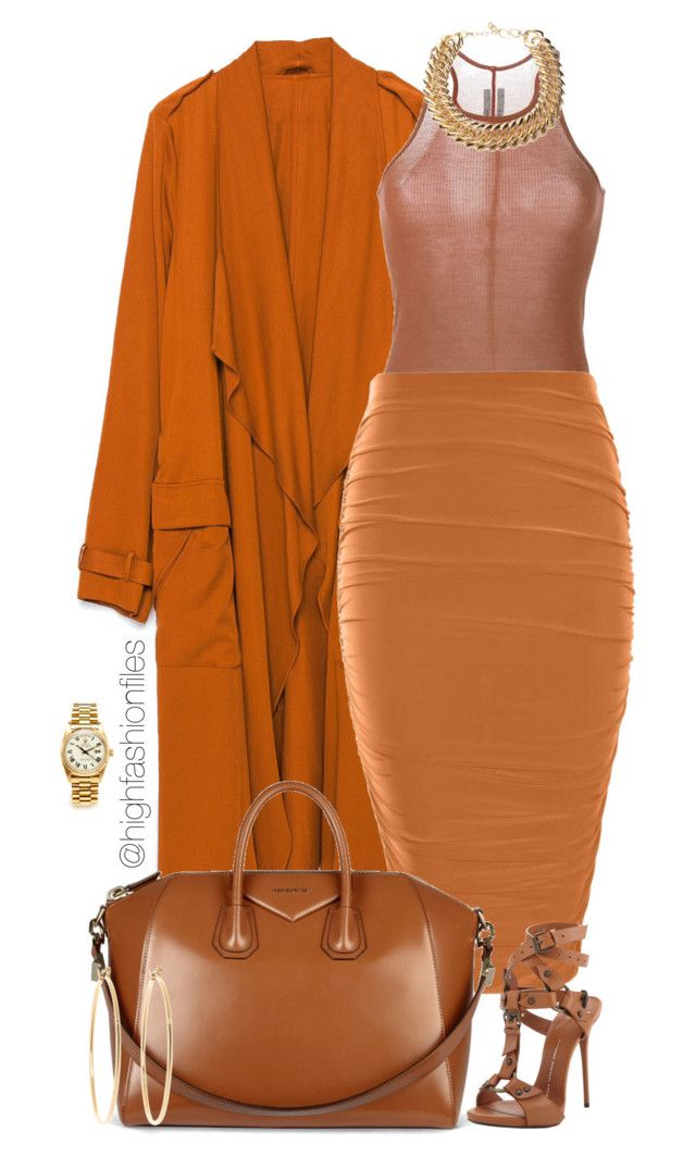 """Orange County"" by highfashionfiles on Polyvore featuring Zara, Rick Owens, Boohoo, Givenchy, Giuseppe Zanotti, Yves Saint Laurent, Brooks Brothers and Rolex"