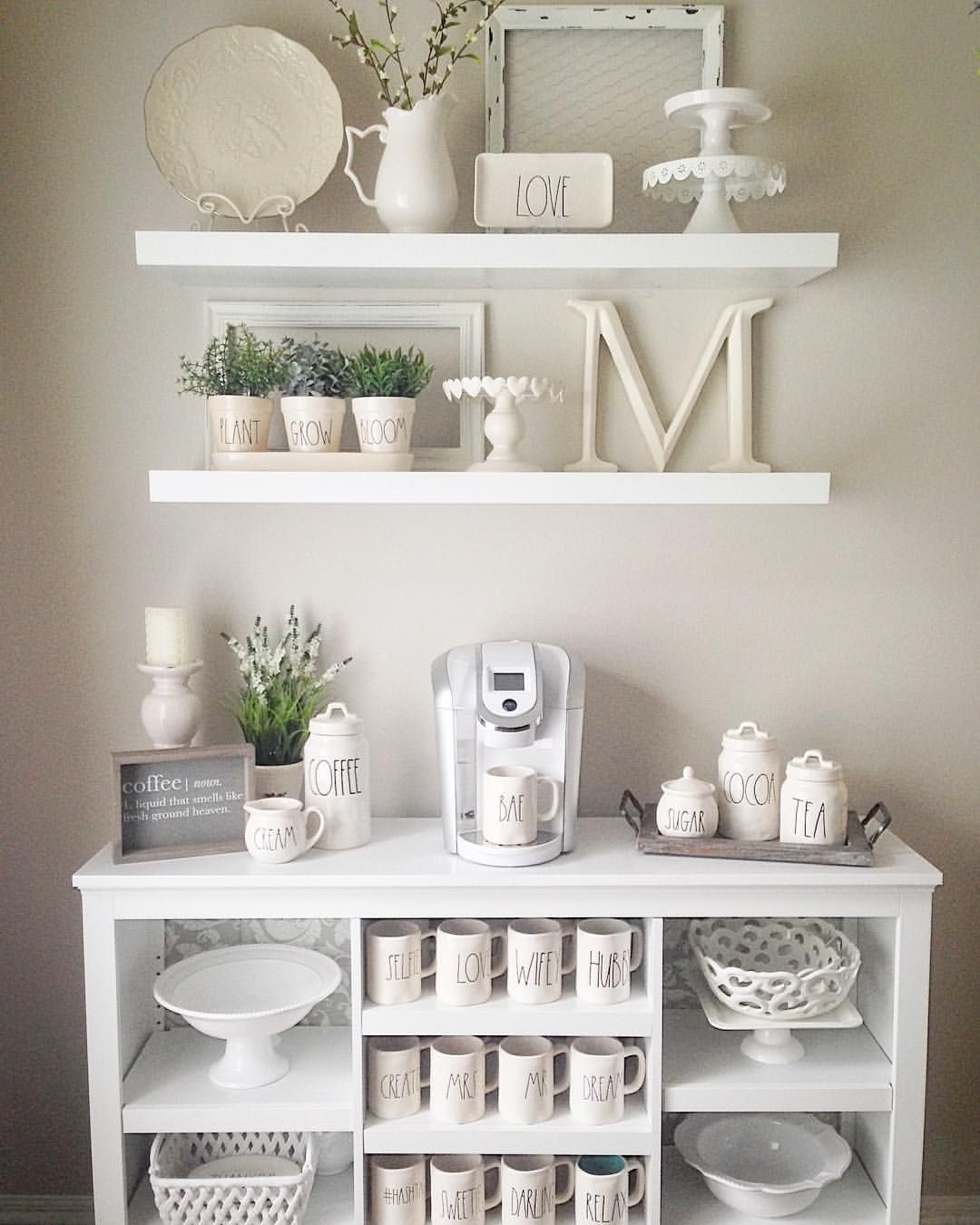 Mug Shelf Kitchen: Farmhouse Shelves Rae Dunn Mug Display