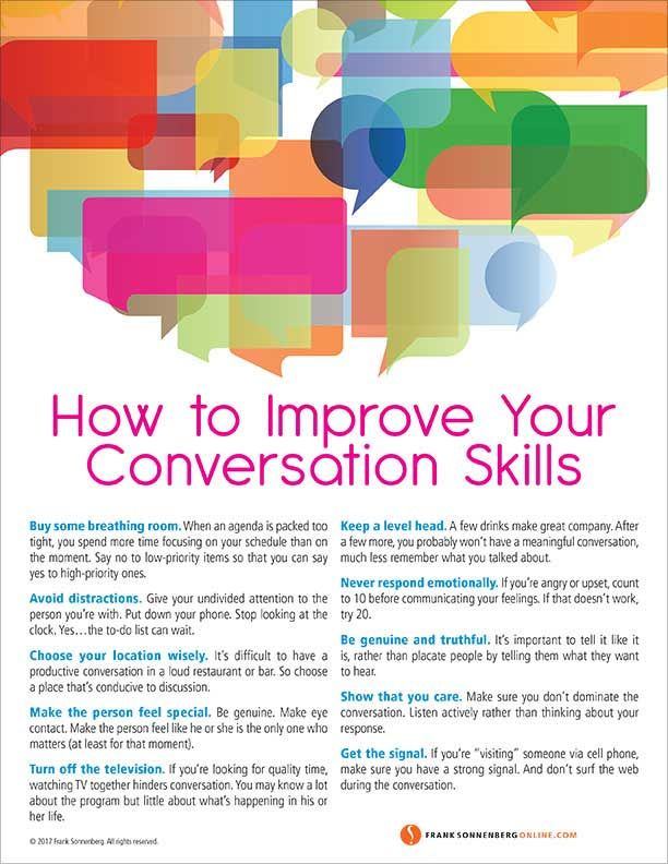 How to Improve Your Conversation Skills –– 10 Valu